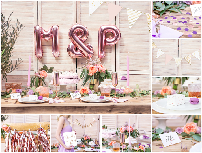 Kolekcja Lavender & Rose Gold Wedding